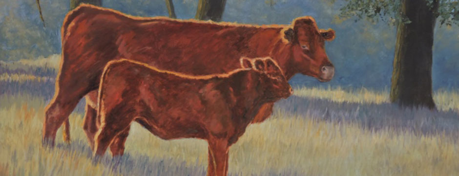 The Red Heifer | Original Watercolor Paintings and Art For Sale