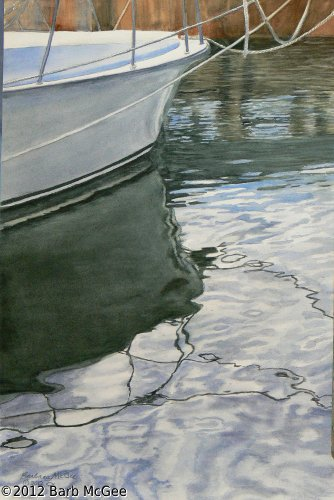 Reflections - Reflections in shimmering water