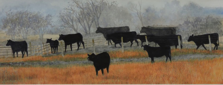 After The rain | Original Paintings of Cattle and Horses