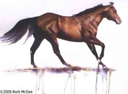 Free Flowing - Running Horse