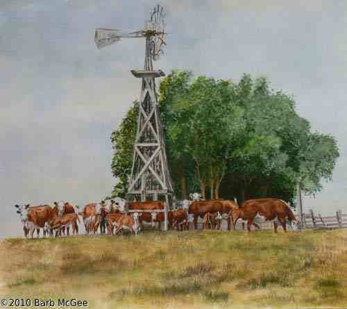 Sticken Close To The Well - Herford Cows Sticken Close to the well