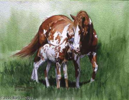 The Last Of The Line - Paint Mare and Colt
