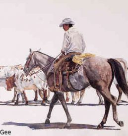 The Outrider - Horse and Rider On Cattle Drive