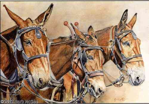 Three In One - Three mules in harness