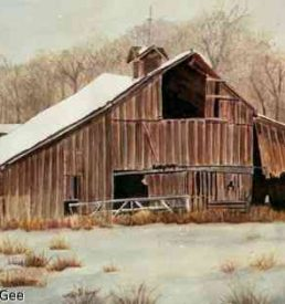 Winter Coat - Old barn in winter